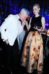 Baz Luhrmann with Elizabeth Debicki at the Sydney premiere of <i>The Great Gatsby</i>.