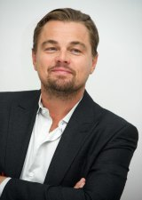 DiCaprio at a <i>The Revenant</i> press conference.