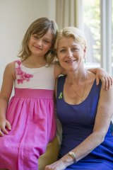 Marie Huttley-Jackson with her  daughter Genavieve, 8, who has been diagnosed with Lyme disease, or Lyme-like illness.