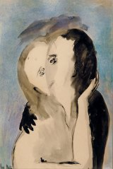 Hester portrayed intimate scenes between couples, such as <i>Love</I>, c.1949.