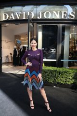 Jessica Gomes poses during the official opening of the new smaller format David Jones store at Barangaroo in Sydney.