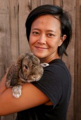 Indie Ladan is happy to vaccinate her pet rabbit Heffie twice a year against the new strain of calicivirus.