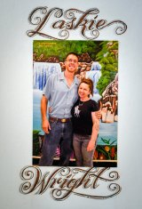 Danielle Laskie with her now husband Tim Wright who is serving life in a US prison.