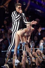 The notorious 'twerking' performance of Blurred Lines by Robin Thicke and Miley Cyrus at the 2013 MTV Video Music Awards.