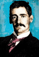 Portrait of Henry Lawson taken in Wellington, New Zealand, in 1893.