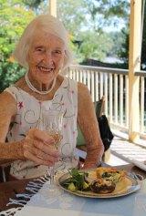 Audrey Gibbs on her 93rd birthday.