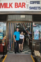 Milk Bar Cafe 2223 owner Tony Fitzgerald and manager Georgie Atkins.
