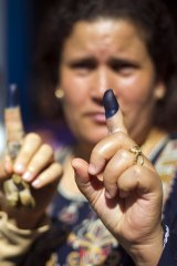 Inked fingers: The Arab Spring began in Tunisia, and it is the only country in which it resulted in any kind of democratic blossoming.