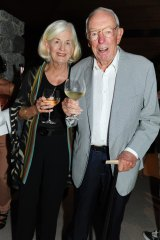 Bob and Val Oatley at the Collette Dinnigan show on Hamilton Island, 2013.