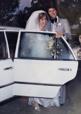 Cheryl and Robert Koenig on their wedding day, Sydney, 1979.