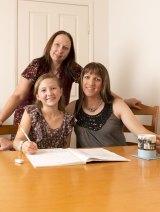 Modern family: Christine, Kiannah and Keri, today.
