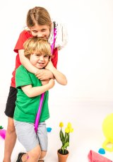 The couple's children, Matilda, 7, and Oliver, 4.