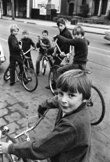 Boys with dragsters, c.1970.