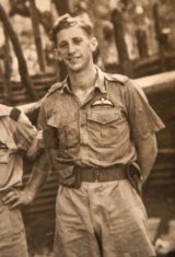 Victorian RAAF pilot Colin Duncan pictured in 1943 in the Northern Territory.