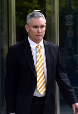 Craig Thomson leaves the County  Court on Tuesday.
