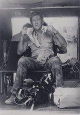 NBC cameraman, Australian Neil Davis, on the job during the Vietnam War.