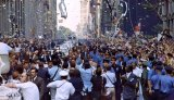 New York City welcomes the Apollo 11 crew in a ticker tape parade down Broadway and Park Avenue.