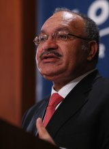 The Prime Minister of Papua New Guinea, Peter O'Neill.