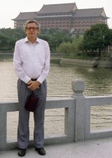 John Cleverley on one of his many visits to China.