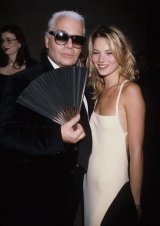 With Karl Lagerfeld in 1995.