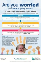 REACH posters are displayed at all participating hospitals.