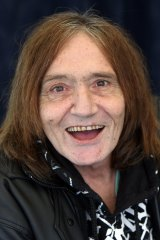 Former lead singer of the Easybeats Stevie Wright in 2012, when he was living on the south coast of NSW.