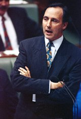 Then prime minister Paul Keating during question time in March 1992.
