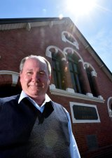 Minister Steve North pictured outside the church in 2014.