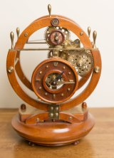 Another of Mr Webb's growing collection of handmade clocks.