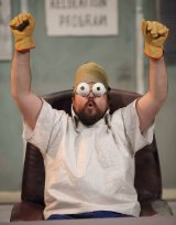 Brent Hill as Homer in <i>Mr Burns: A Post Electric Play</i>.