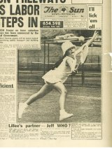 A 1972 newspaper report about young Magda's prowess on the tennis court, a sport her father trained her in relentlessly.