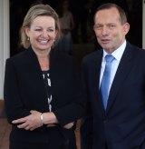 Sussan Ley and Tony Abbott.
