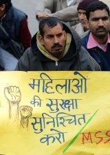Protestors demanding better security for women in New Delhi, India.