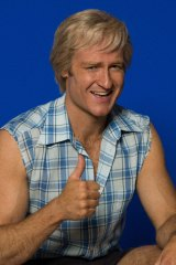 Josh Lawson as Paul Hogan in a miniseries that mixes the real with the reimagined.