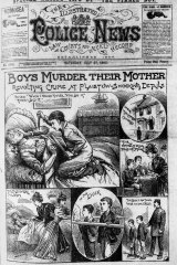 The front page of The Illustrated Police News depicted the Coombes murder in 1895.
