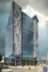 Manitoba tower design – every panel can be different when moulds don't have to be reusable.