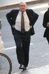 Stephen Larkin arrives at court in Sydney on Tuesday.