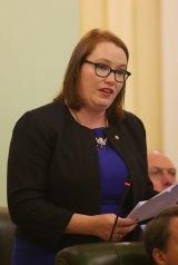 Verity Barton, helping out fellow parliamentarian.