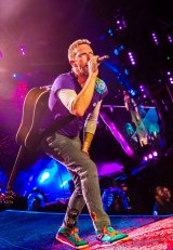 Coldplay on the first of five 2016 Australian shows.