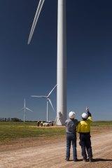 The Hallett Wind Farm in South Australia.