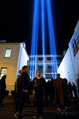 The Pulse Column at Dark Mofo, Hobart.