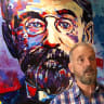 New, funky portrait of King O'Malley unveiled at namesake pub in Canberra