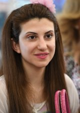 Razan Ozon, 29, is a Christian refugee from Old Homs, Syria whose ticket was paid for by the Barnabas Fund, as part of its Operation Safe Haven.