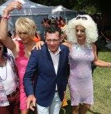 Premier Daniel Andrews at Midsumma Festival in Alexandra Gardens.