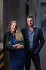 Producer Tilly Legge and  director John Kachoyan in Melbourne.