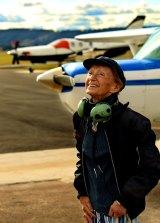Happy landings: Senta Taft-Hendry in 2013.