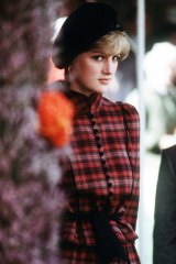 """In Caroline Charles at the Braemar Games, 1981. """"I was so thrilled with this look. You have to understand the rules of beingin Scotland with the Queen. Diana was only 20, so this was pretty and appropriate."""