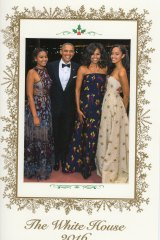 The Obama family's last Christmas card before they leave the White House.