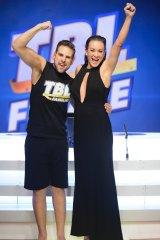 Daniel Jofre with his trainer Michelle Bridges.