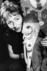 Taft-Hendry with a Sepik carving in 1964.